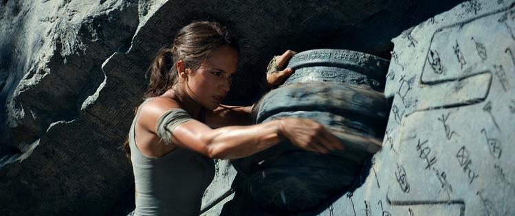 Tomb Raider op Blu-Ray en dvd puzzel