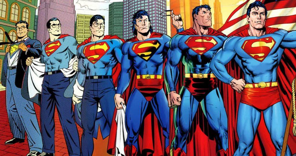De historie van Superman Supermannen