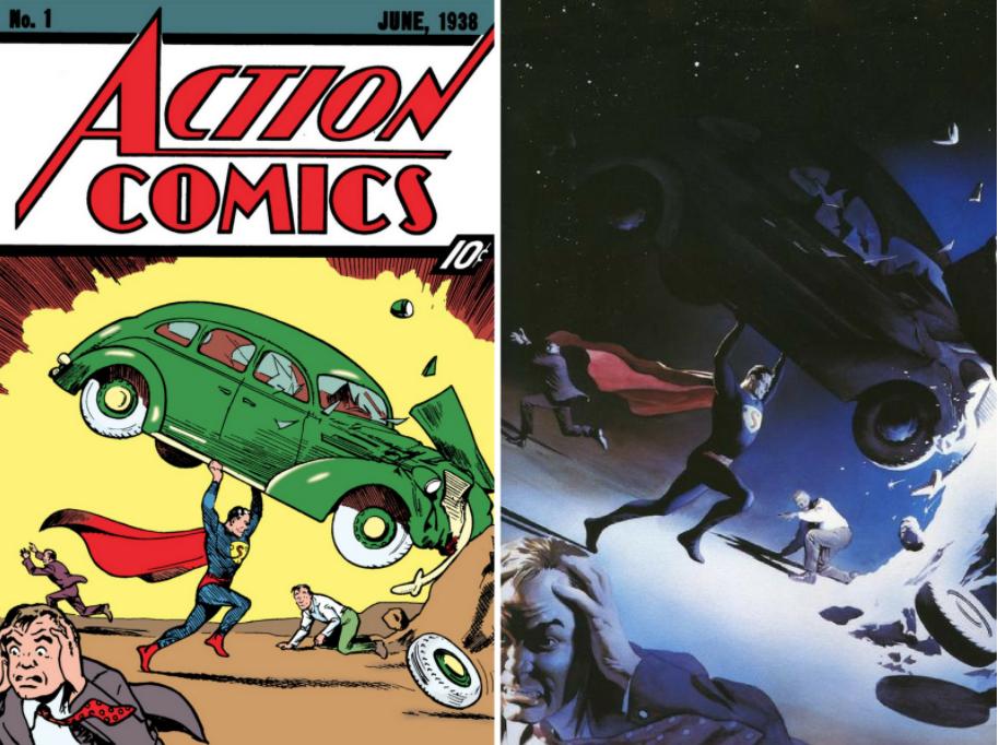 80 jaar Superman Nieuws Almanak Alex Ross vs Action 1