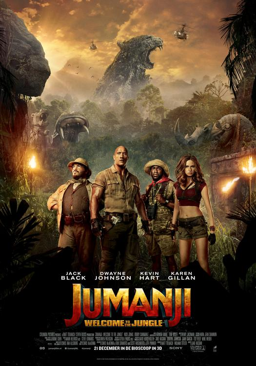 Jumanji: Welcome to the Jungle Blu-Ray en dvd-winactie poster