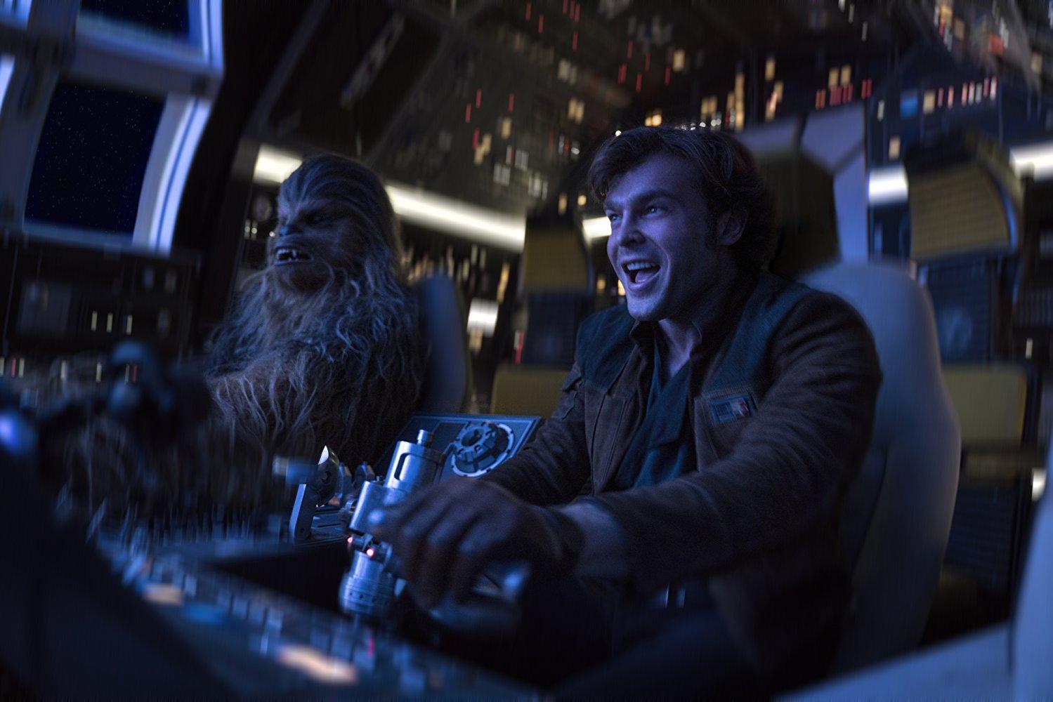 Solo: A Star Wars Story Han en Cewbacca in Falcon