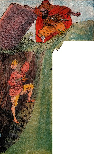 Aladdin: 10 verschillen - De tovenaar sluit Aladdin op