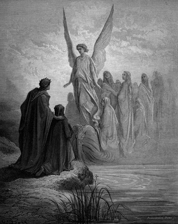 De engel - Dante - De Goddelijke komedie - De hemelse Geleider, Gustave Dore