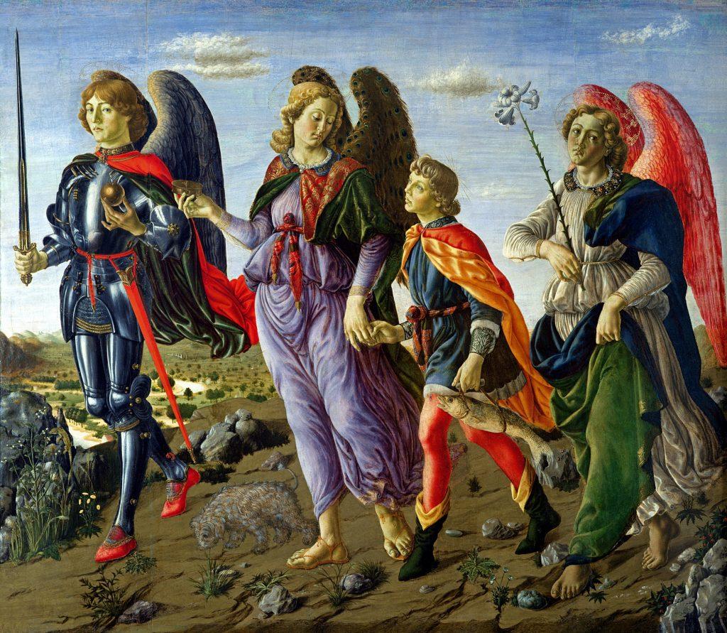 De engel - Drie aartsengelen met Tobias - Francesco Botticini