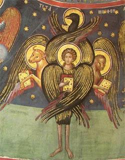 De engel Cherubijn Tetramorph