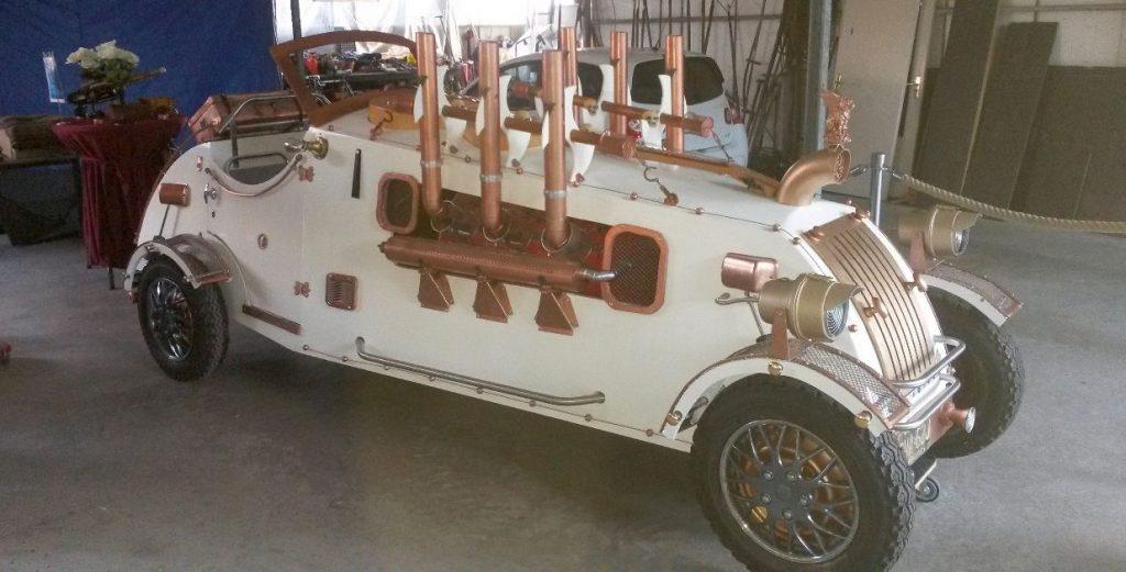 De Steampunk Hotrod van Cock Zandvliet