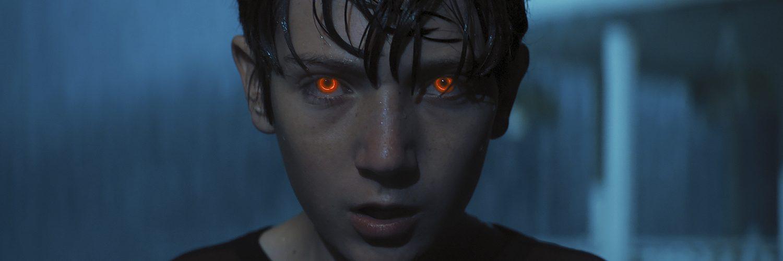 Brightburn blu-ray dvd - Brandon Breyer burning eyes