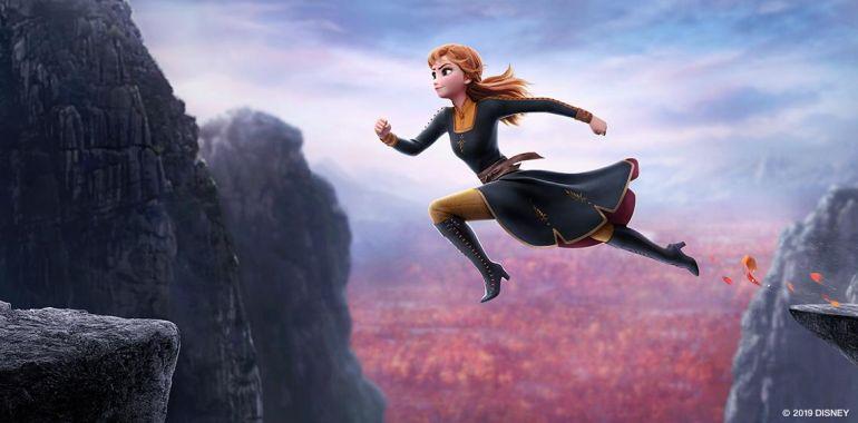 Frozen II Anna springt