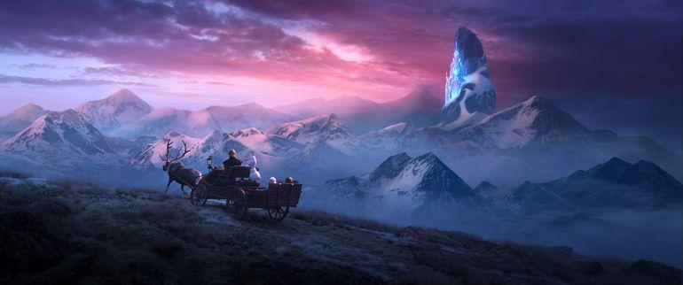 Frozen II magisch landschap