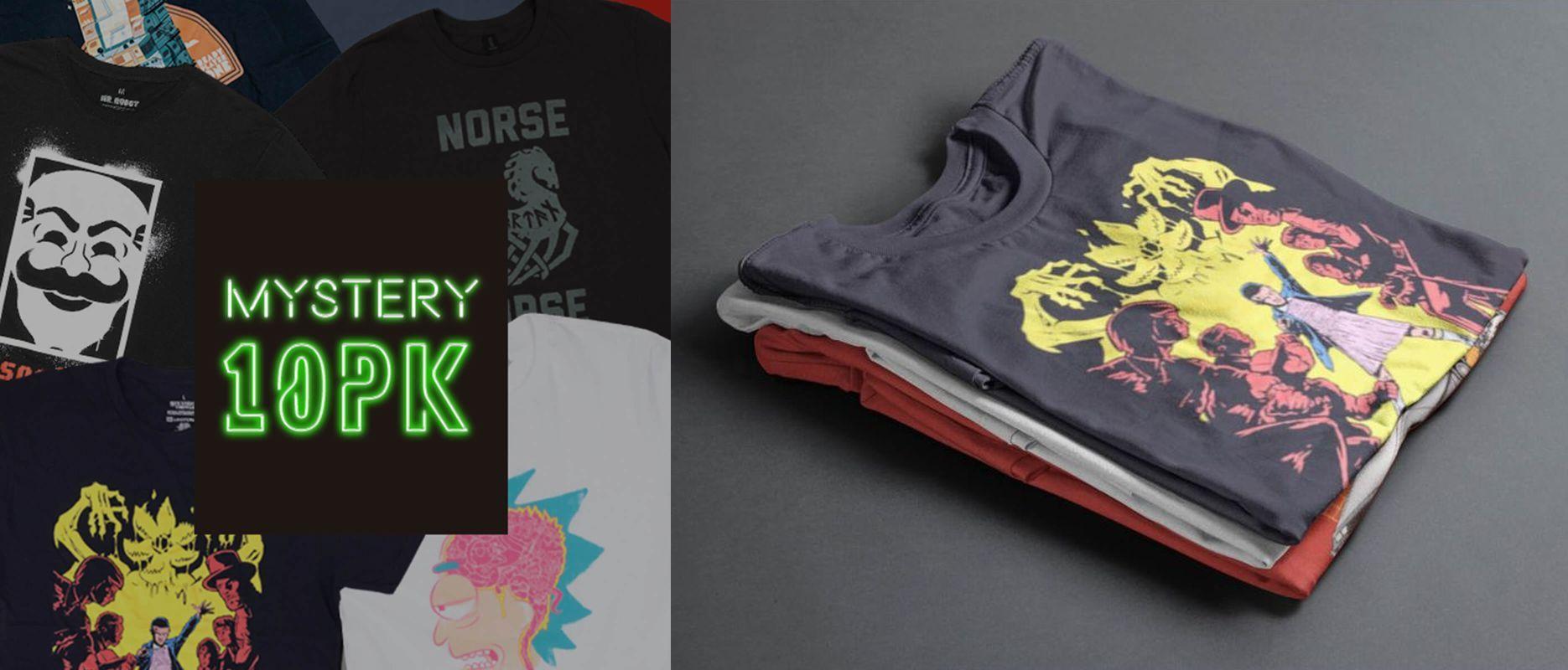 Modern Myths Merchandise – Black Friday 2019 - Mystery Geeky Shirts 10 Pack 1 en 2