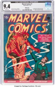 Modern Myths Nieuws 2019 Week 46 en 47 - Marvel Comics 1 Timely - credit Heritage Auctions