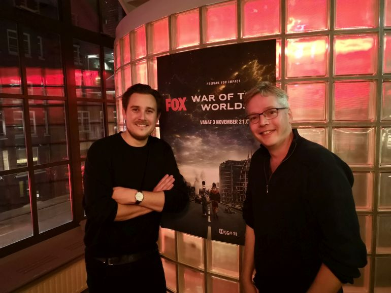 War of the Worlds op Fox - Regisseur Gilles Coulier en Jeroen Geelhoed 2