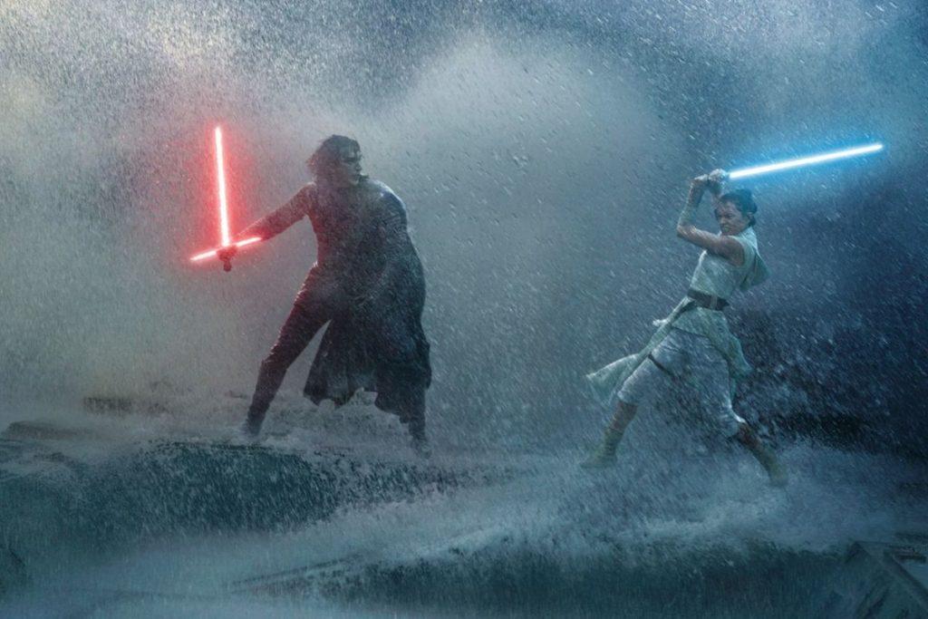 Rey versus Kylo op zee