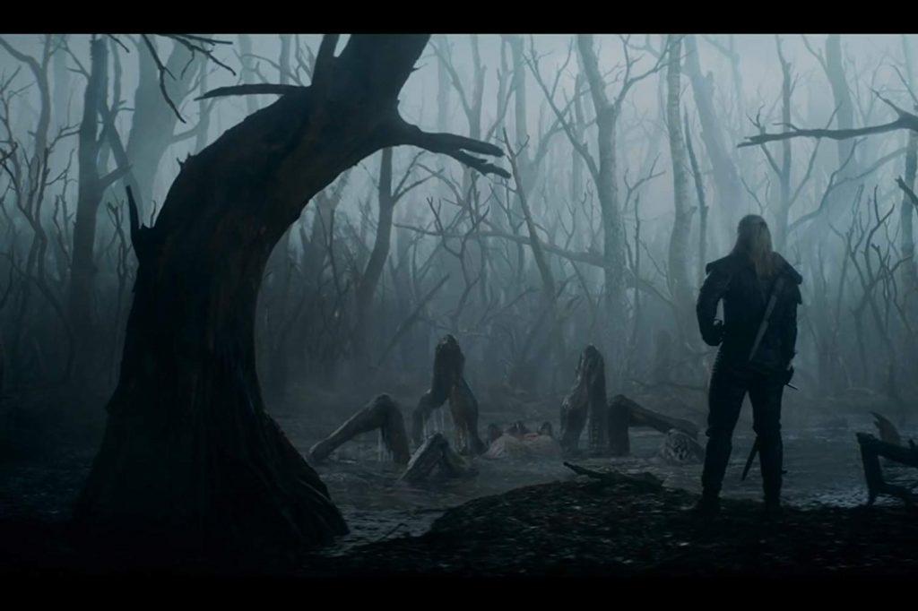 The Witcher - Geralt en monster