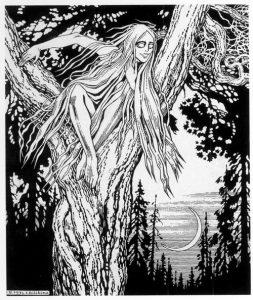 Wie is The Witcher - Rusalka door Ivan Bilibin, 1934 Public Domain