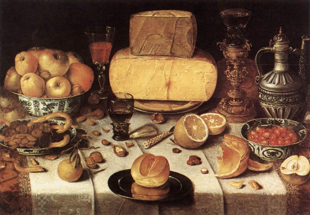 Gretel Hansel - Nicolaes Gillis - Een gedekte tafel 1611 Public Domain