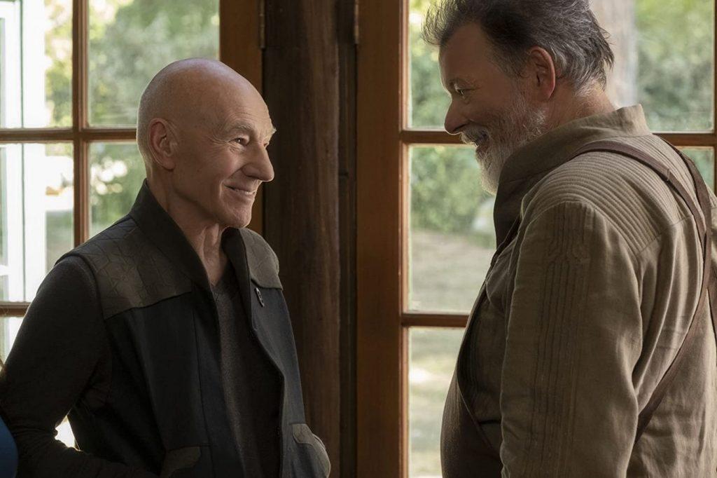 Patrick Stewart en Jonathan Frakes