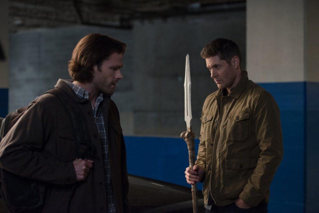 Supernatural seizoen 14 - Jensen Ackles en Jared Padalecki - de speer