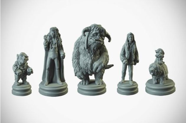 Labyrinth bordspel - onbeschilderde spelfiguren