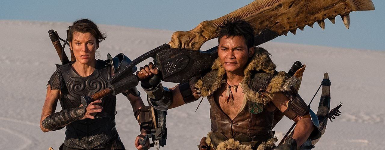 Modern Myths Nieuws 2020: Week 8-10 - Monster Hunter poster Milla Jovovich en Tony Jaa uitsnede