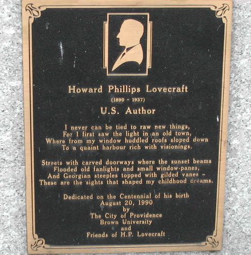 Gedenkplaat H.P. Lovecraft