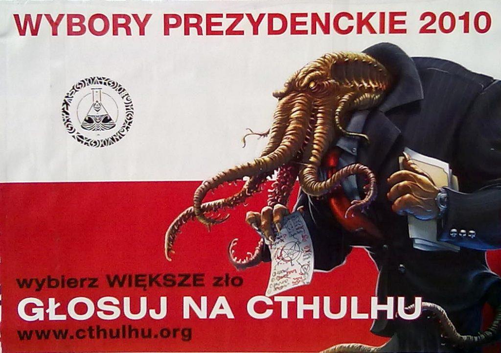 Satirische Poolse Cthulhu poster