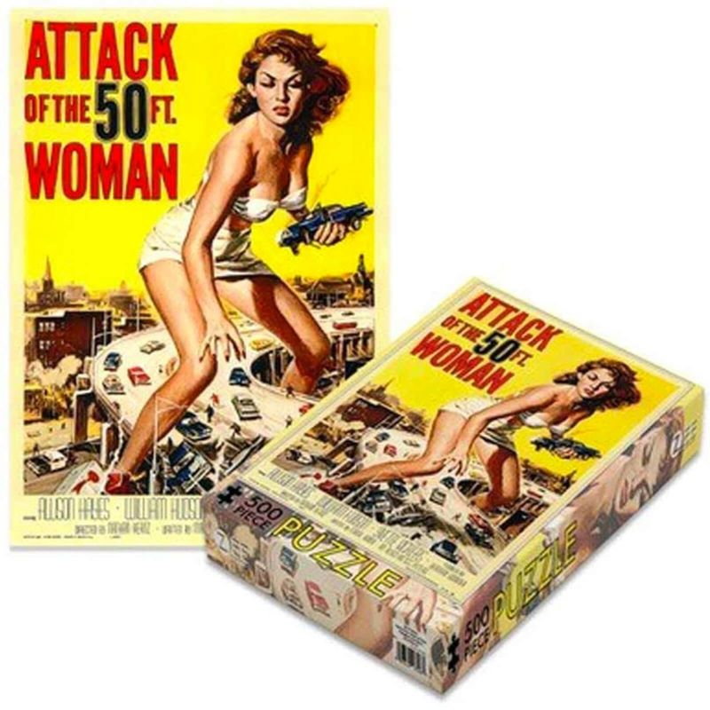 Fantasy sciencefiction en horror puzzels - Attack of the 50 ft woman puzzel