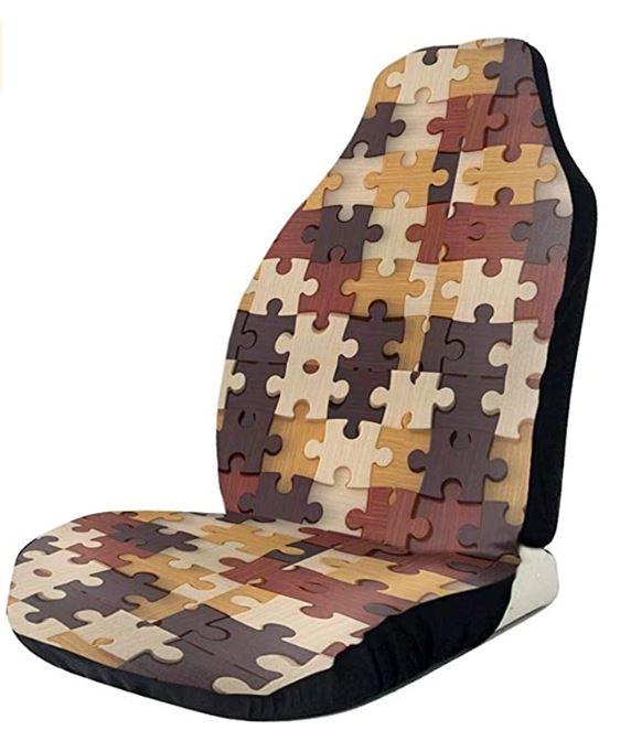 Fantasy sciencefiction en horror puzzels - Auto stoel cover puzzel design