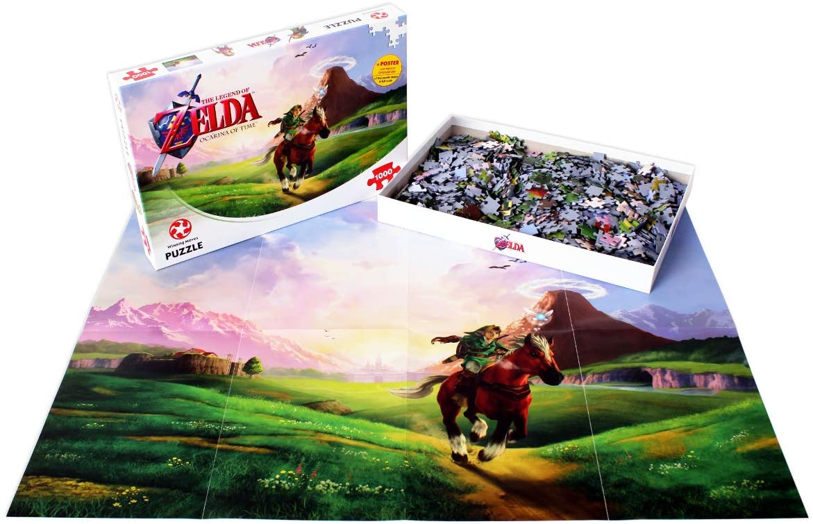 Legend Of Zelda Ocarina Of Time 1000pc Puzzle compleet