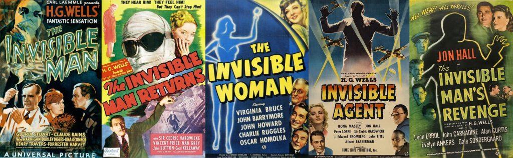 De intertekstualiteit van Er zal eens… - The Invisible Man filmposters