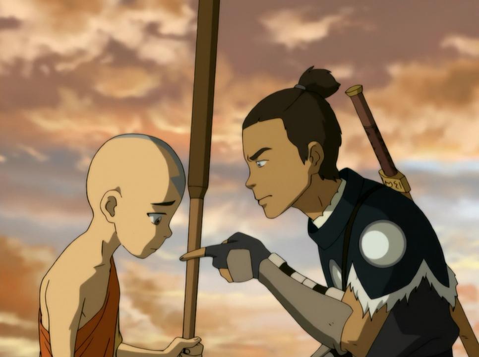 Aang en Sokka