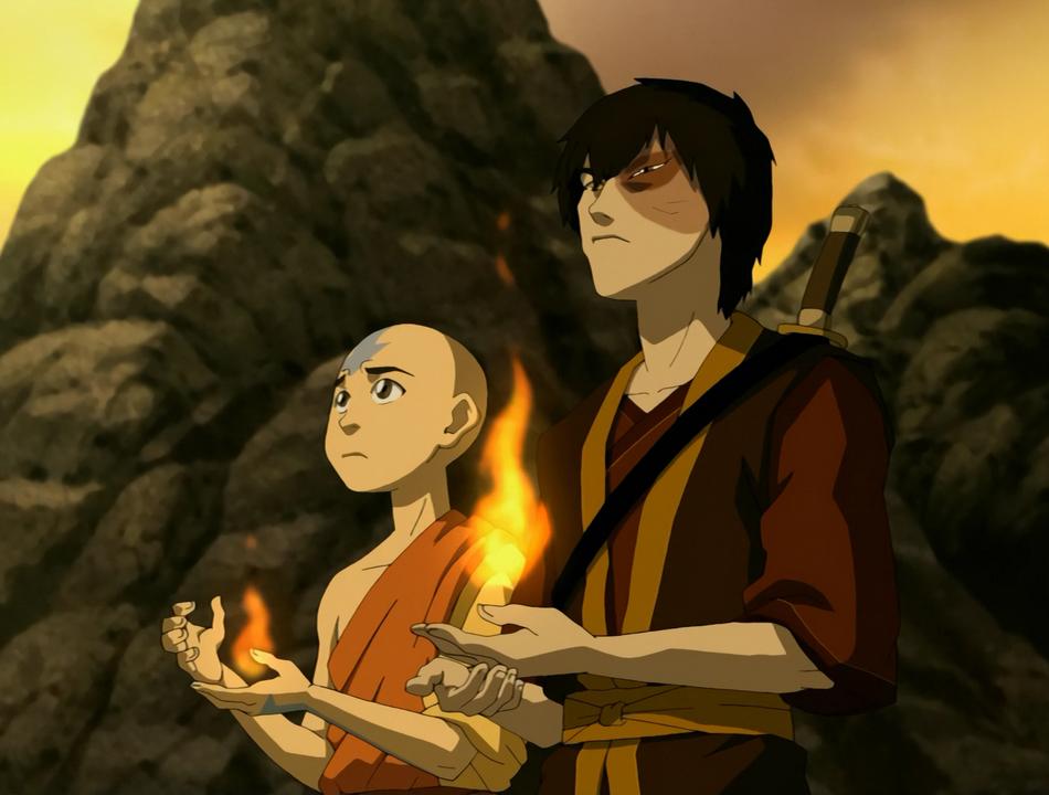 Aang en Zuko