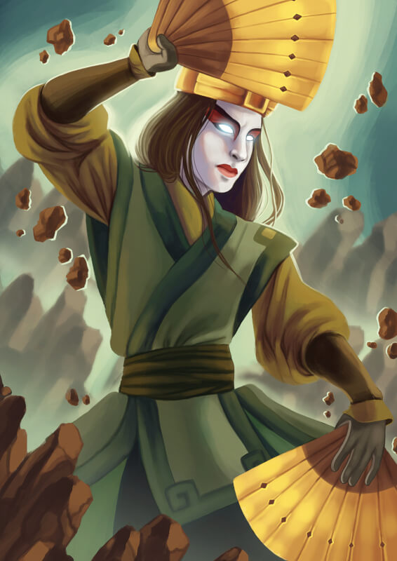 The Rise of Kyoshi en The Shadow of Kyoshi: Kyoshi door Joany Taanman