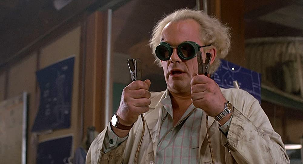 Christopher Lloyd als Dr Emmett Brown