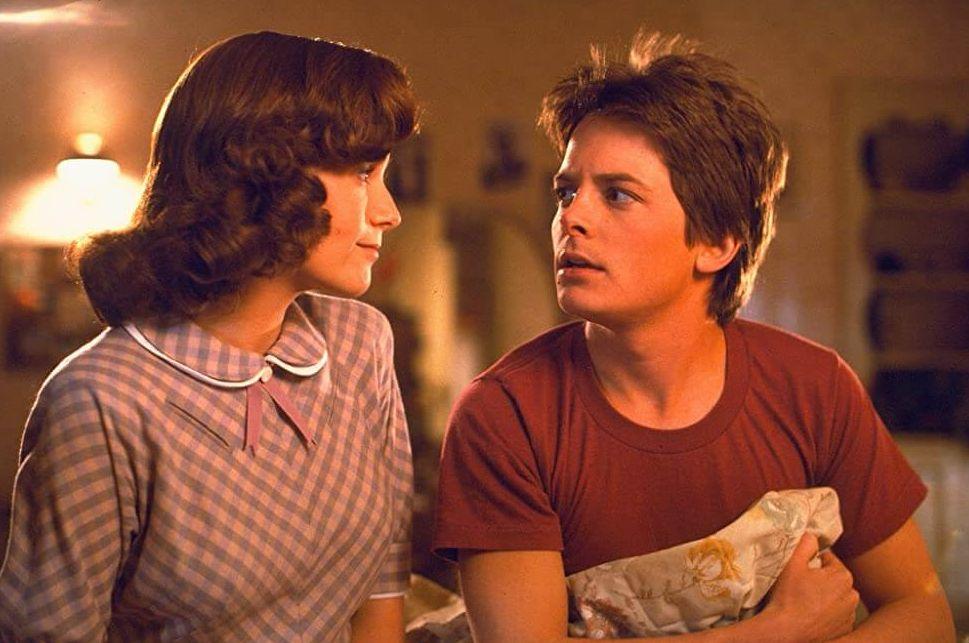 Claudia Wells en Michael J. Fox - Back to the Future