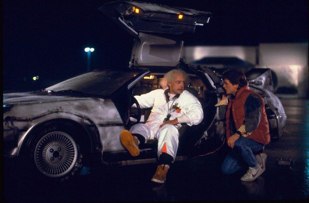 De DeLorean DMC-12 tijdmachine