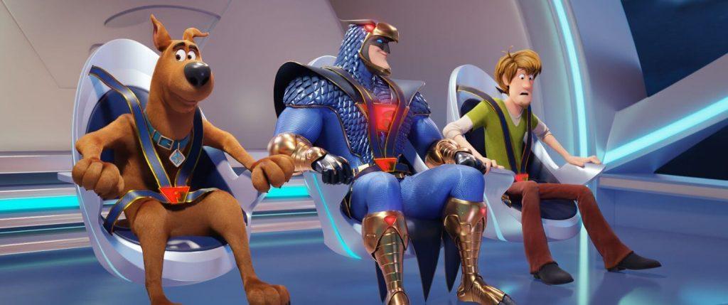 Scooby, Blue Falcon en Shaggy