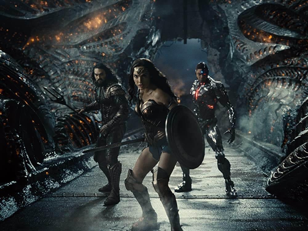 Aquaman, Wonder Woman en Cyborg