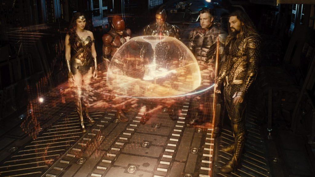 Wonder Woman, Flash, Cyborg, Batman en Aquaman