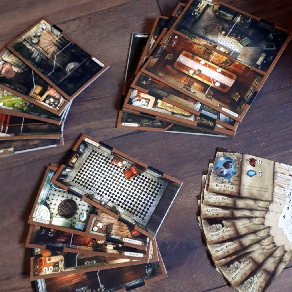 Mansions of Madness Second Edition - speltegels en personages