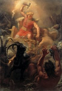 Tor's Fight with the Giants - Mårten Eskil Winge - Public Domain