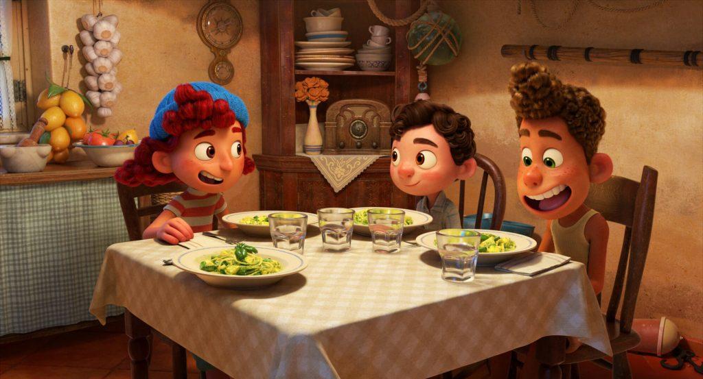 Luca, Alberto en Giulia - pasta