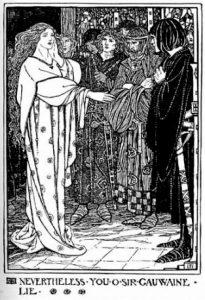 Heer Gawain en de Groene Ridder – Early Poems of William Morris - Florence Harrison (1914) - Wikipedia public domain