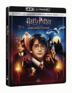 Harry Potter en de Steen der Wijzen 4K UHD packshot