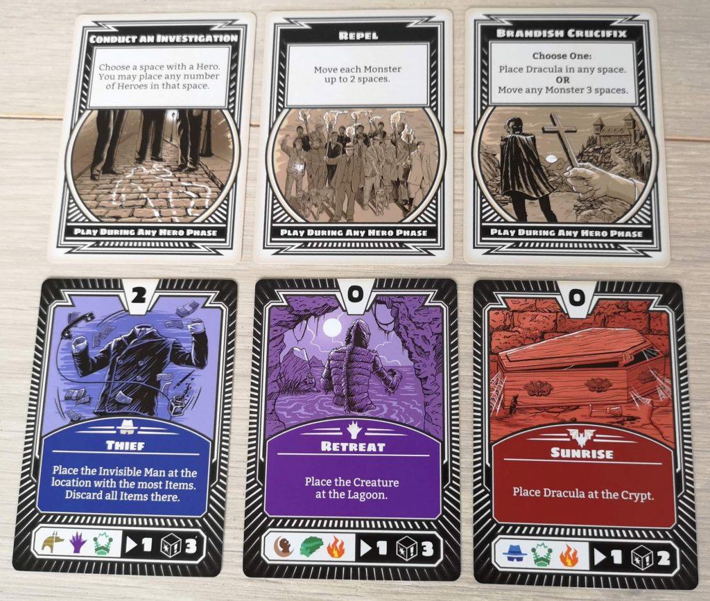 Monster kaarten en perks