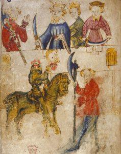 Heer Gawain en de Groene Ridder – Sir Gawain and the Green Knight - eind 14e eeuw - Wikipedia public domain
