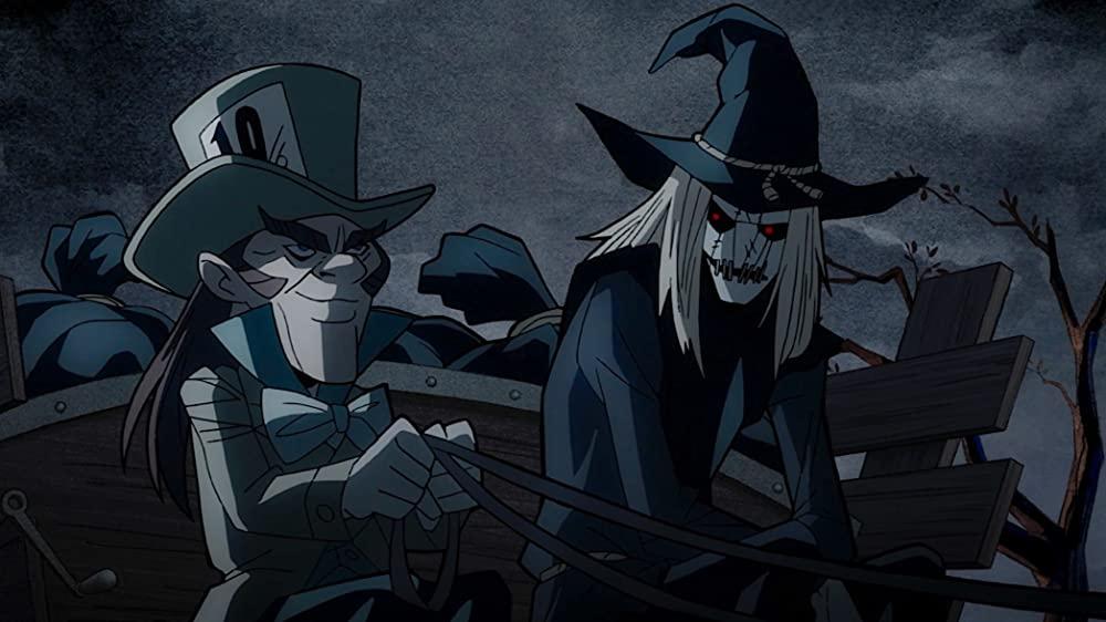 John DiMaggio als Mad Hatter en Robin Atkin Downes als Scarecrow