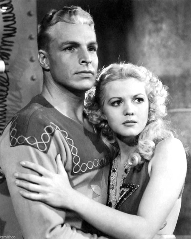 Buster Crabbe en Jean Rogers in Flash Gordon 1936 - Universal Pictures